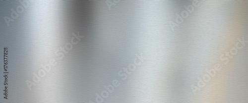Fényképezés Silver brushed metal texture