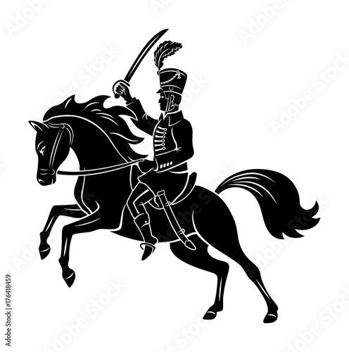 hussar on horseback Fototapet