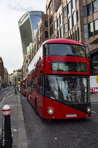 Canvas Print Double decker bus