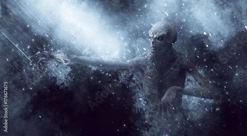 Canvas-taulu Monster Demon 3D Illustration
