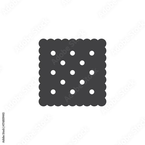 Cracker icon vector, filled flat sign, solid pictogram isolated on white Tapéta, Fotótapéta