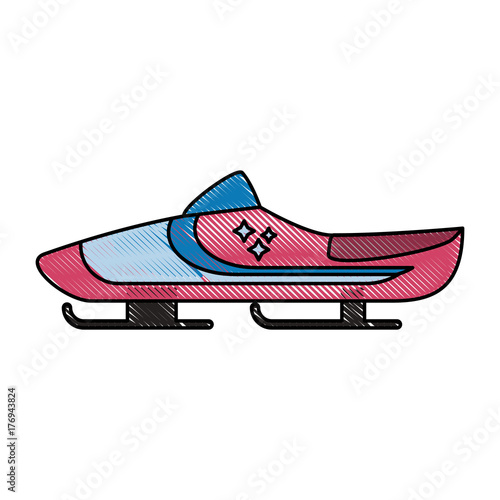 bobsleigh bank icon vector illustration graphic design Fototapete