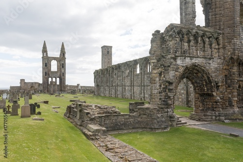 Fotografia St Andrews Cathedral at Saint Andrews, Scotland
