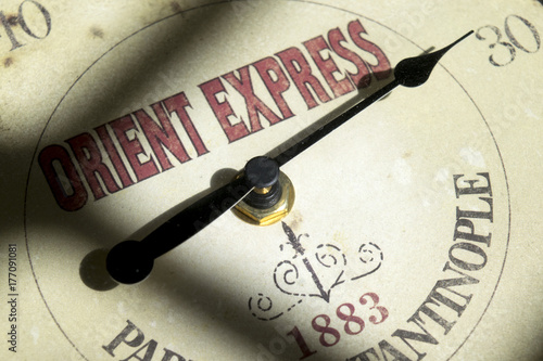 Canvas Print concept of orient express travel