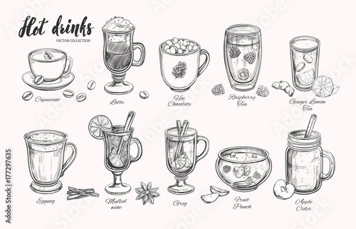 Stampa su Tela Hot drinks