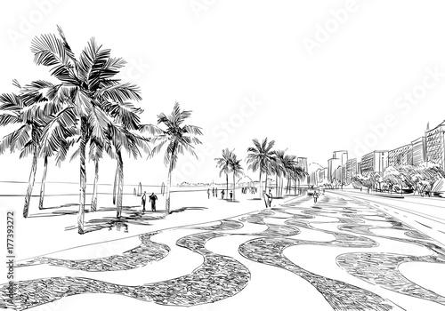 Wallpaper Mural Copacabana beach
