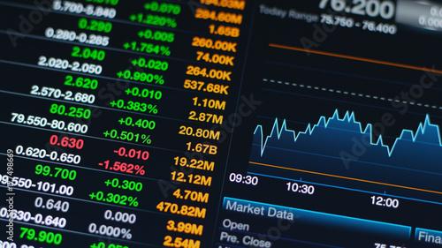 Fotografie, Tablou Digital stock market on a tablet screen