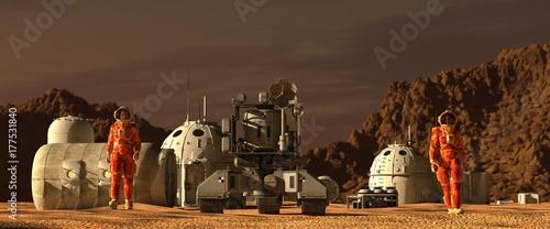 Fotografia, Obraz Mars colony