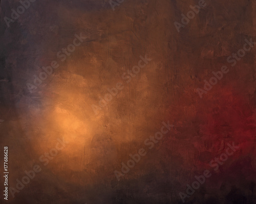 Foto painted photographic backdrop with light spot