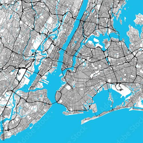 Duża mapa Nowego Jorku