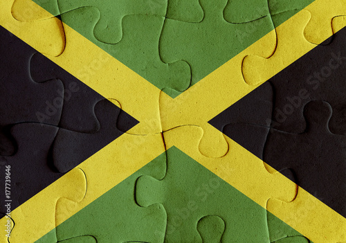 Wallpaper Mural Jamaica flag puzzle