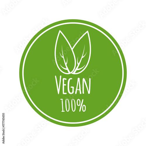 Fotografia Vegan vector logo