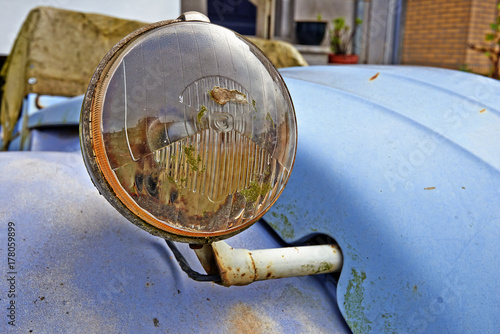 Old and vintage iconic French car - detail Fototapeta