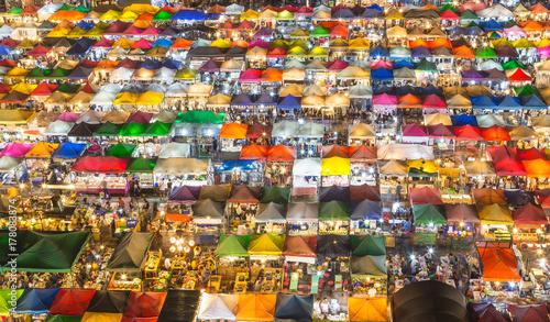 Street Food Market, Rod Fai (Train Market), Ratchada, Bangkok, Thailand