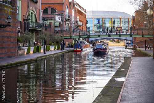 Obraz na płótnie バーミンガム 運河
