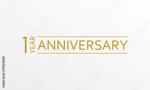Canvas Print 1 year anniversary emblem