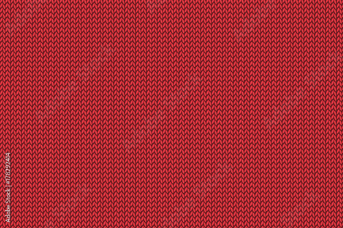 Christmas red knitted pattern. #178292414
