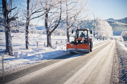 Plow during the winter