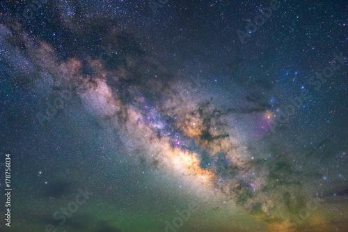 Carta da parati Milky way at Terlingua ghost town, Texas
