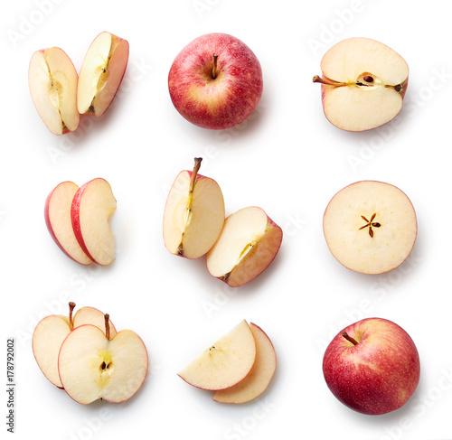 Canvastavla Fresh apple isolated on white background