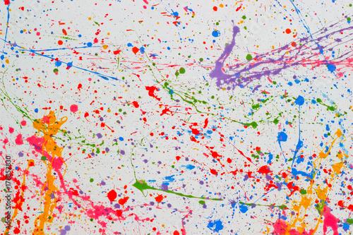 Fotografia Pollock  art texture graphic drawn backdrop wallpaper