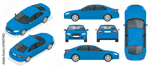 Fotografia Set of Sedan Cars