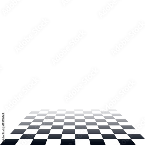 Carta da parati Seamless black and white tile