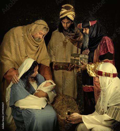 Leinwand Poster Wisemen at Christmas