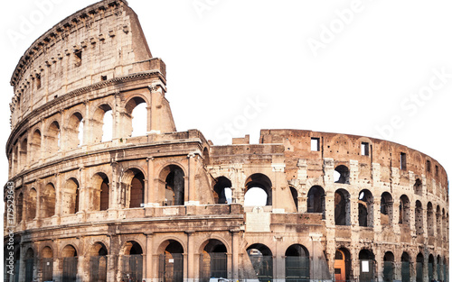 Close up of Colosseum isolated on white in Rome, Italy Tapéta, Fotótapéta