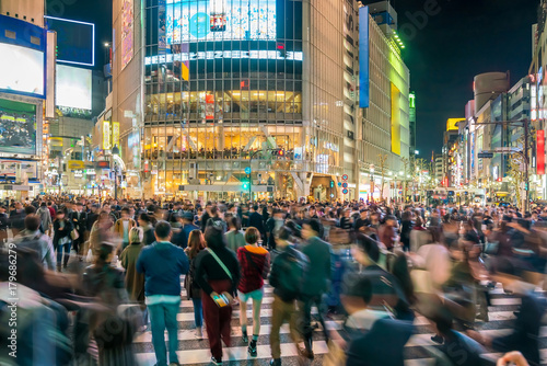Obraz na płótnie Pedestrians crosswalk at Shibuya Tokyo