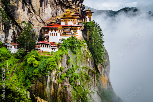 Photo View on Tiger's nest monastery, Bhutan