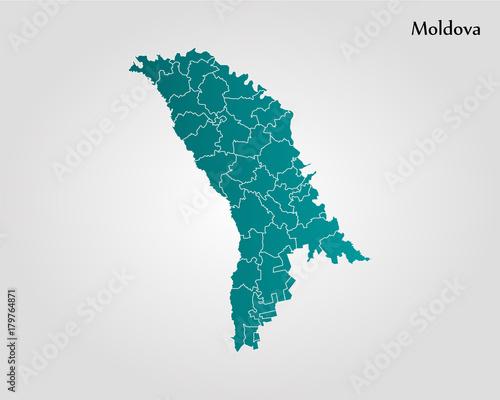 Wallpaper Mural Map of Moldova