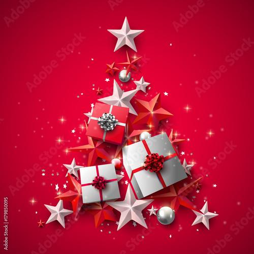 Obraz na plátně Luxury Christmas greeting card