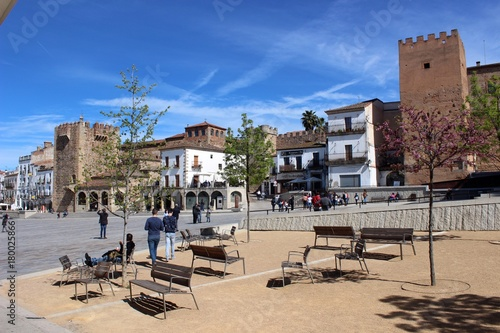 Plaza Mayor, Cáceres, Spain.