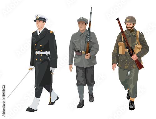 Polish Army historical uniforms PART 2 Fototapeta