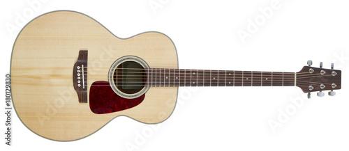 Fotografia Acoustic guitar isolated on white background