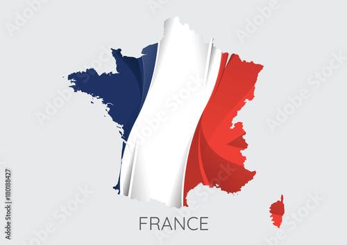 Map of France Fototapeta