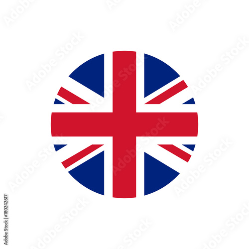 Photo UK of Great Britain flag, official colors and proportion correctly