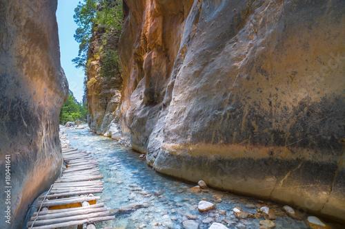 Obraz na płótnie Samaria Gorge. Crete, Greece