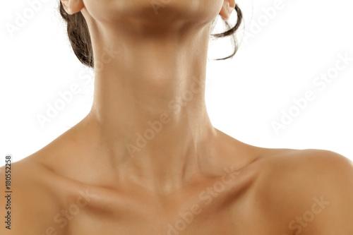Fototapeta Woman's neck and bare shoulders