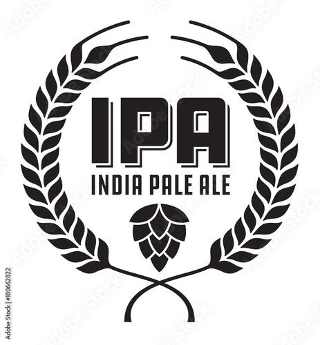 Fotografie, Obraz IPA or India Pale Ale Badge or Label