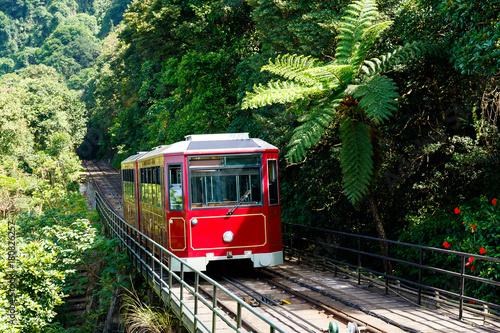 The peak tram in Hong Kong