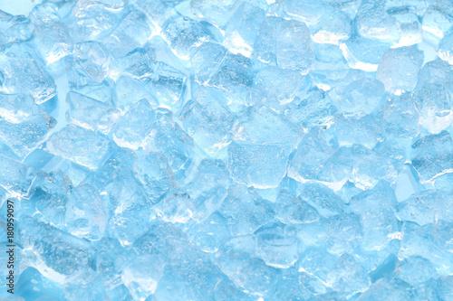 Valokuvatapetti winter blue ice cube texture background