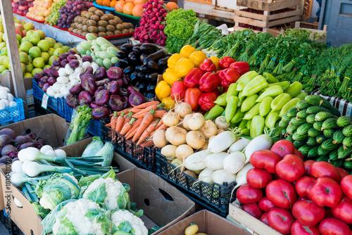 Fresh and organic vegetables at farmers market Fototapet