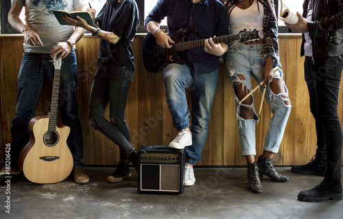 Stampa su Tela Music Band Rehearsal Friendship Together