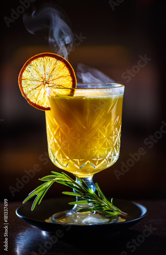 Hot cocktails for winter holidays