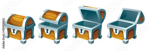Fototapeta treasure chest for animation