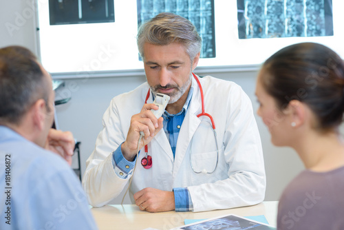 Fotografija recording the health observation