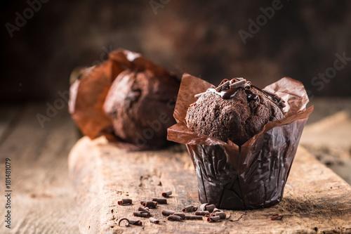 Carta da parati Homemade chocolate muffin