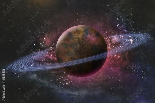 Planet Saturn Galaxy